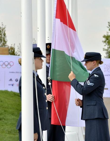 magyar zászlófelvonás a londoni olimpián