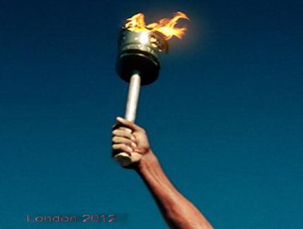 Londonban az olimpia láng