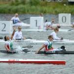 A magyar női kajak négyes a célban a londoni olimpián