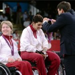 Kerekesszékes női párbajtőrcsapat a paralimpián